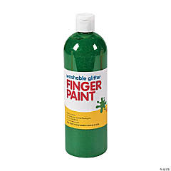 Washable Green Glitter Finger Paint - 16 oz.