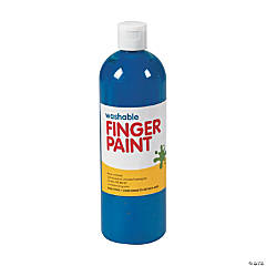 Washable Blue Finger Paint - 16 oz.