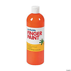 Washable Orange Finger Paint - 16 oz.