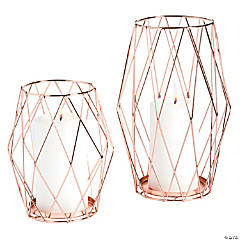 Rose Gold Candle Holder Set