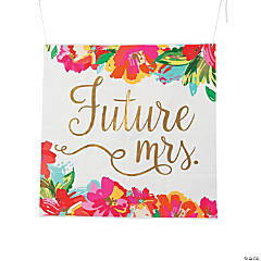 Future Mrs. Bright Floral Banner