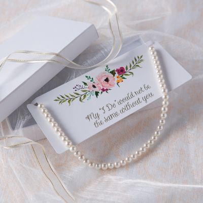 fake pearl wedding necklace