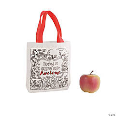 Printed Scene Canvas Tote Bags