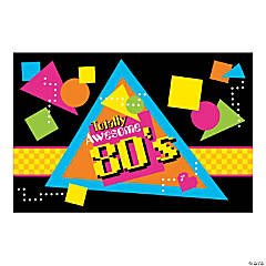 80s Party Backdrop Banner