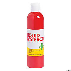Red Washable Liquid Watercolor Paint