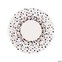 Confetti Design Dinner Plates