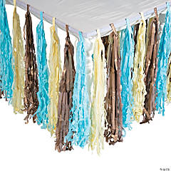 Boys' Birthday Party Fringe Tableskirt