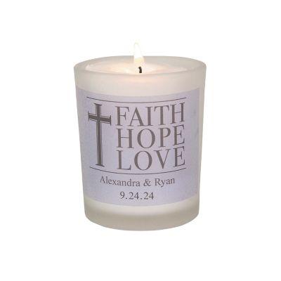 faith hope love wedding votive candles