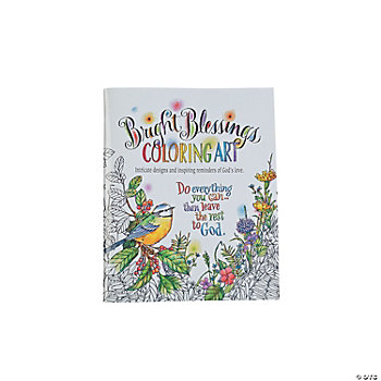 Bright Blessings Adult Coloring Book
