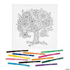 Tree Coloring Canvas Kit