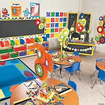 Robots gears classroom theme
