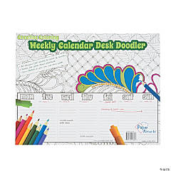Creative Coloring Weekly Desk Calendar
