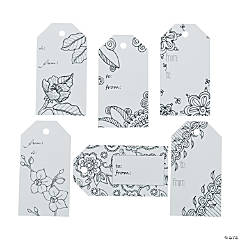 Creative Coloring Tags Floral