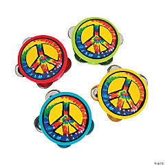 Peace Sign Tambourines