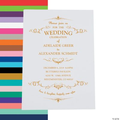 Personalized Fairy Tale Wedding Invitations