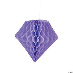 Lilac Diamond Tissue Paper Hanging Decorations