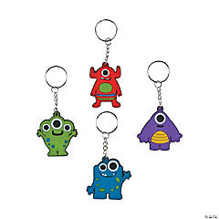 Big-Eyed Monster Key Chains