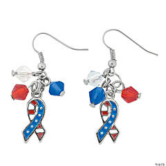 Patriotic Ribbon Flag Earrings Craft Kit