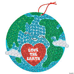 Earth Day Sign Glitter Mosaic Craft Kit