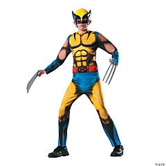 Deluxe Muscle Chest Wolverine Boy's Halloween Costume