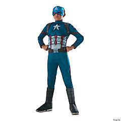 Boy's Deluxe Muscle Chest Captain America: Civil War™ Captain America Costume - Medium
