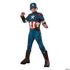 Boy's Avengers 2: Age of Ultron™ Deluxe Muscle Captain America Costume
