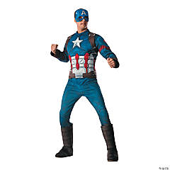 Men's Deluxe Muscle Chest Captain America: Civil War™ Captain America Costume - Extra Large