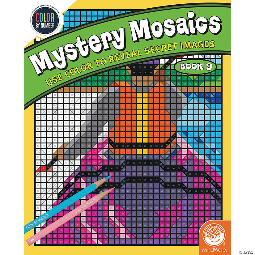 Color By Number Mystery Mosaics: Book 9