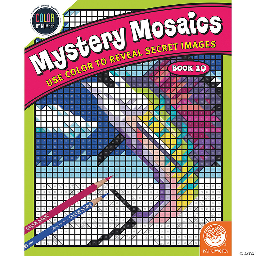 By Number Mystery Mosaics: Book 10
