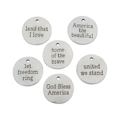 24 July 4th sentiment jewelry craft charms
