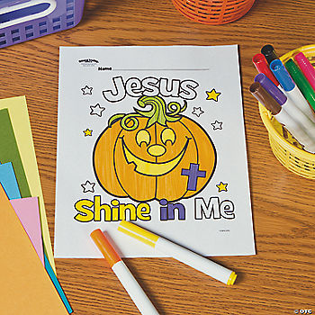 Shine in Me Pumpkin Free Printable Coloring Page