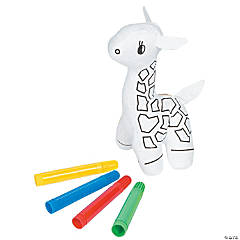 Color Your Own Plush Giraffes
