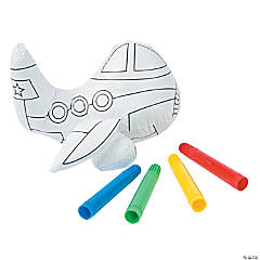 Color Your Own Plush Airplanes