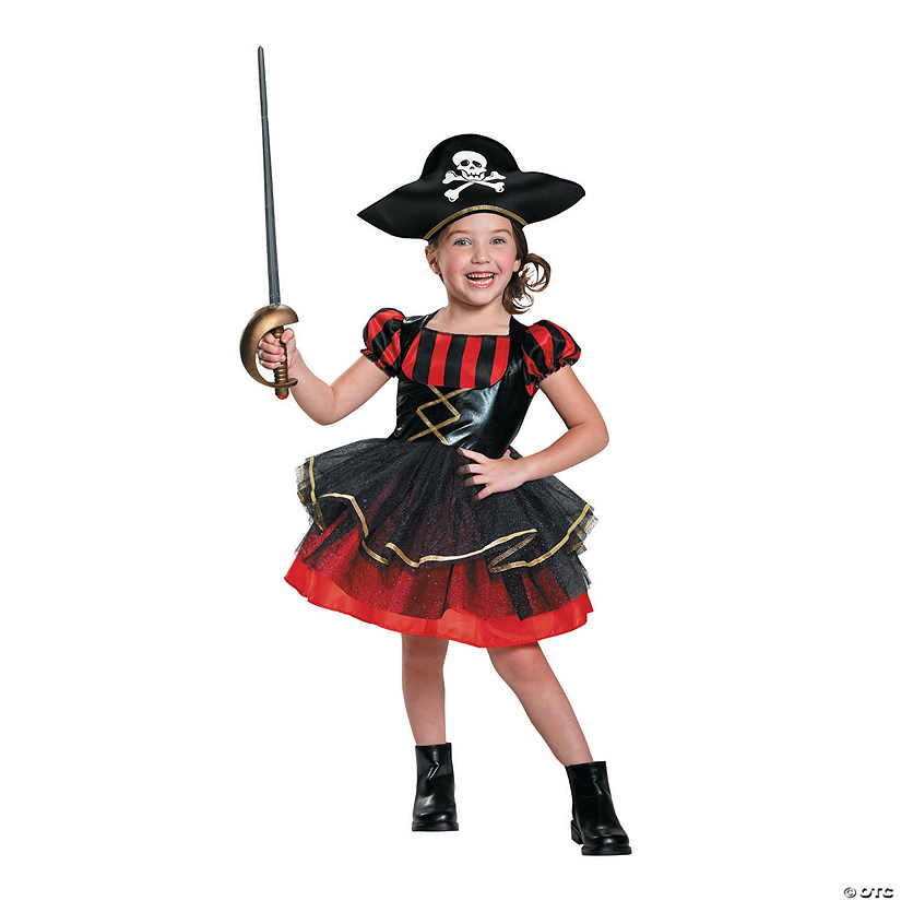 sc 1 st  Oriental Trading & Toddler Girlu0027s Precocious Pirate Costume