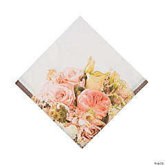 Rose Gold Bouquet Luncheon Napkins