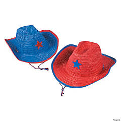Child's Patriotic Cowboy Hats with Plastic Star