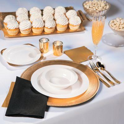 White wedding table ware set