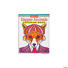 Dapper Animals Adult Coloring Book