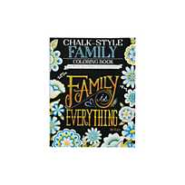 Quickview Image Of Chalk Style Family Adult Coloring Book With Sku13773253