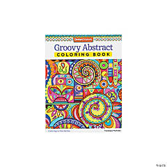 Groovy Abstract Adult Coloring Book