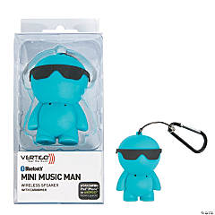 Blue Vertigo® Bluetooth® Mini Music Man Wireless Speaker with Carabiner