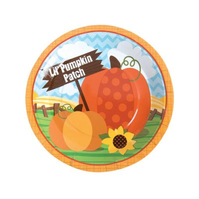 Little Pumpkin party plates