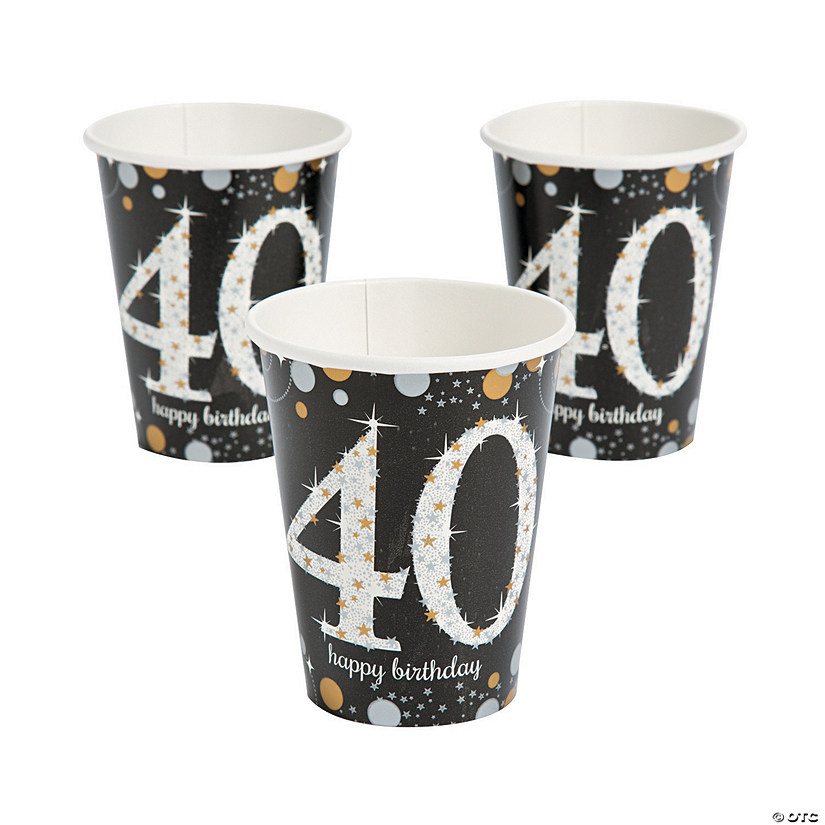 Sparkling Celebration 40th Birthday Cups  sc 1 st  Oriental Trading & Sparkling Celebration 40th Birthday Cups - Discontinued