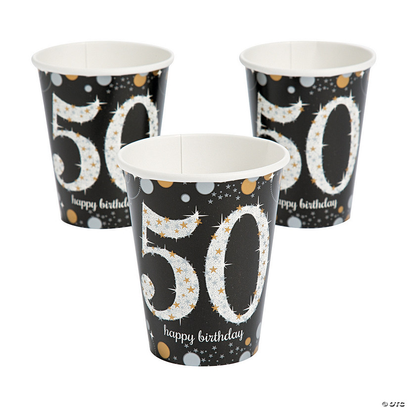 Sparkling Celebration 50th Birthday Cups  sc 1 st  Oriental Trading & Sparkling Celebration 50th Birthday Cups - Discontinued