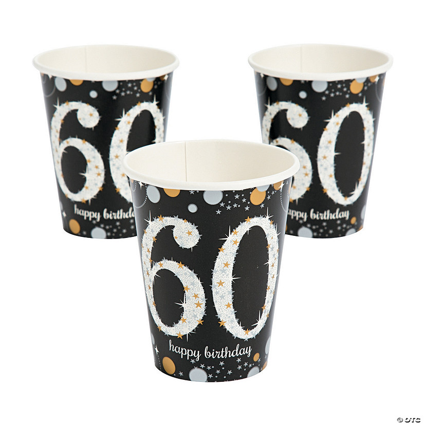 Sparkling Celebration 60th Birthday Cups  sc 1 st  Oriental Trading & Sparkling Celebration 60th Birthday Cups - Discontinued