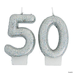 50th Birthday Sparking Celebration Candle