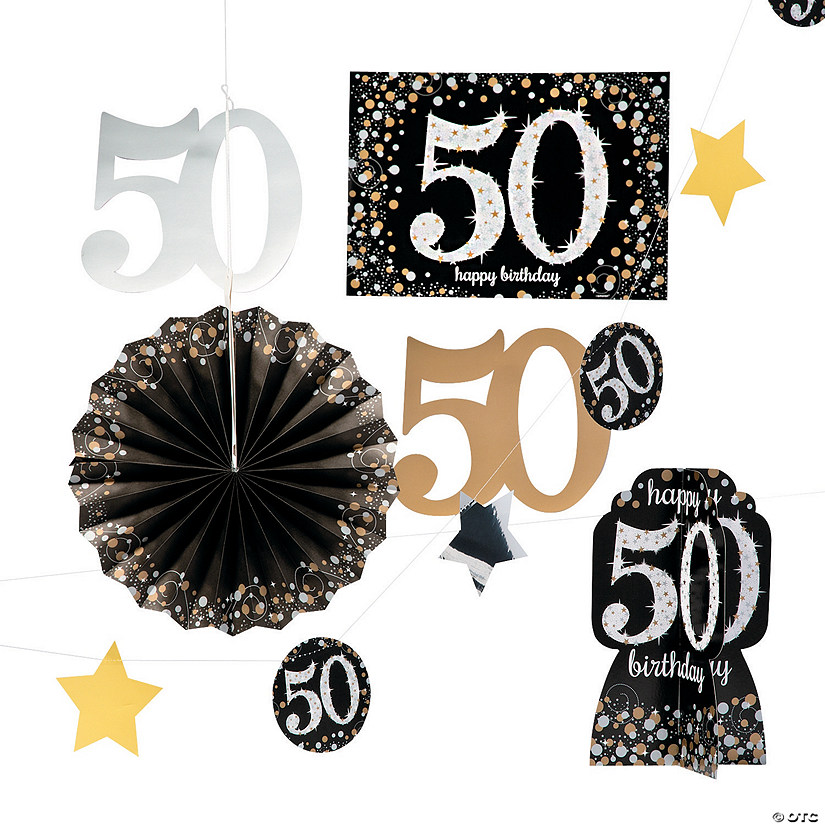 50th Birthday Sparkling Celebration Decorating Kit