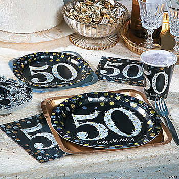 Sparkling celebration 50th birthday party supplies for 50th birthday decoration packs