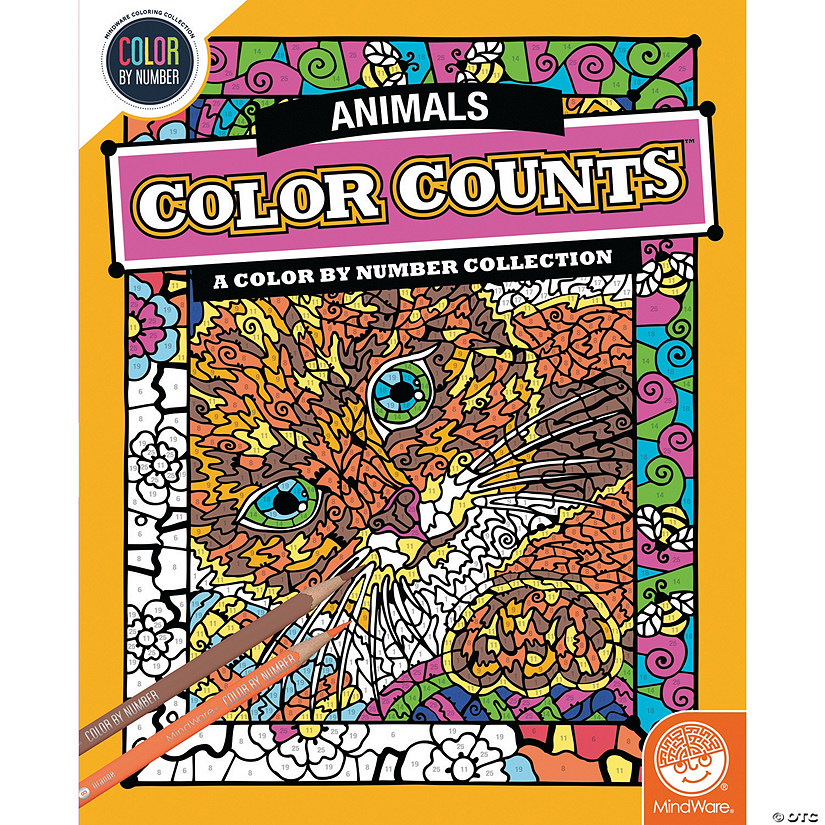 Color By Number Counts Animals