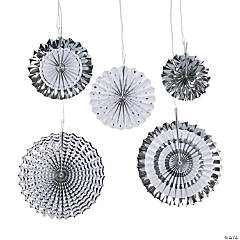 Silver Hanging Fan Assortment